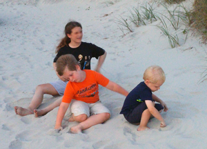 Kiddos at the beach.